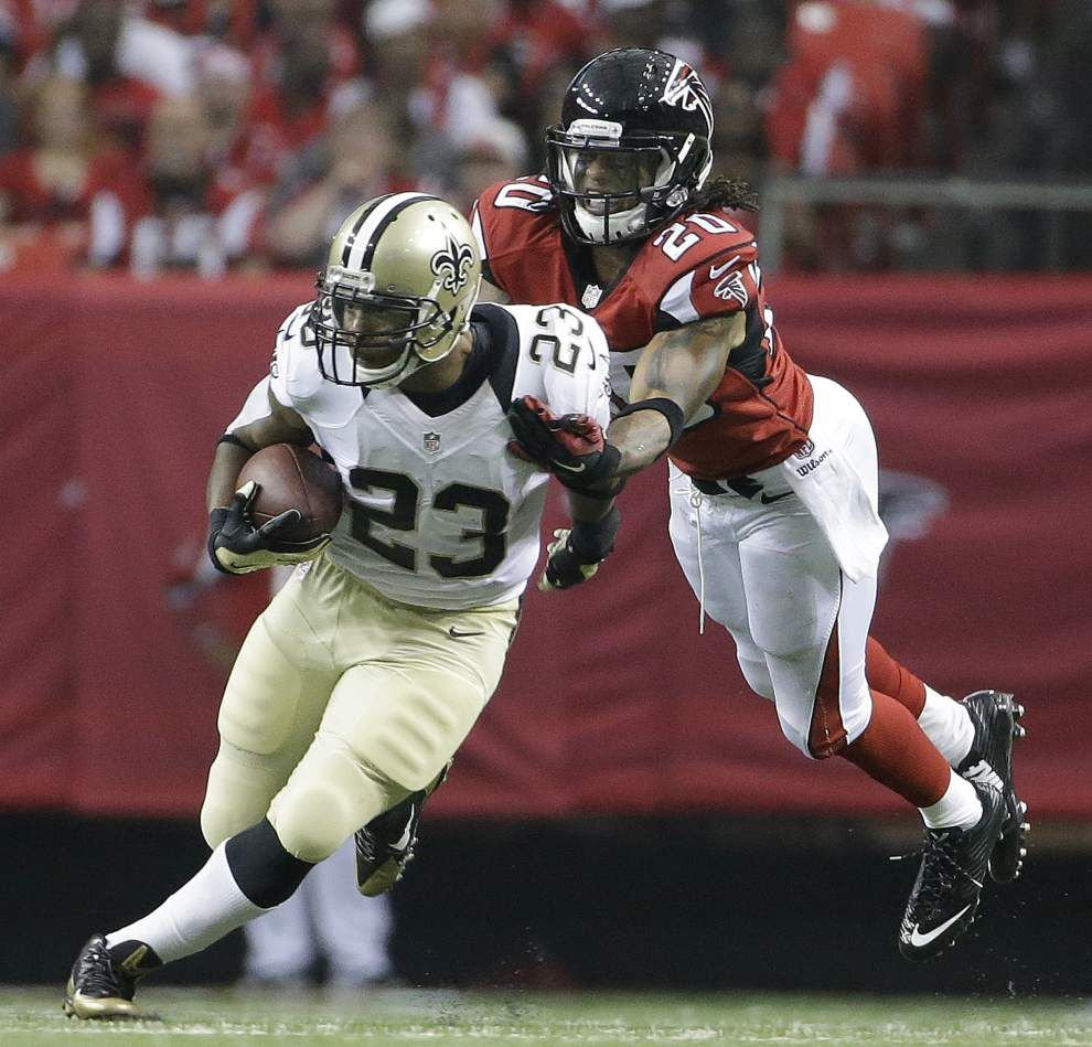 New Orleans Saints fans disappointed over the team's release of running back Pierre Thomas _lowres