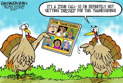 Hungry for some deliciously funny humor? Check out the winner and finalists in Walt Handelsman's Thanksgiving-themed Cartoon Caption Contest!!