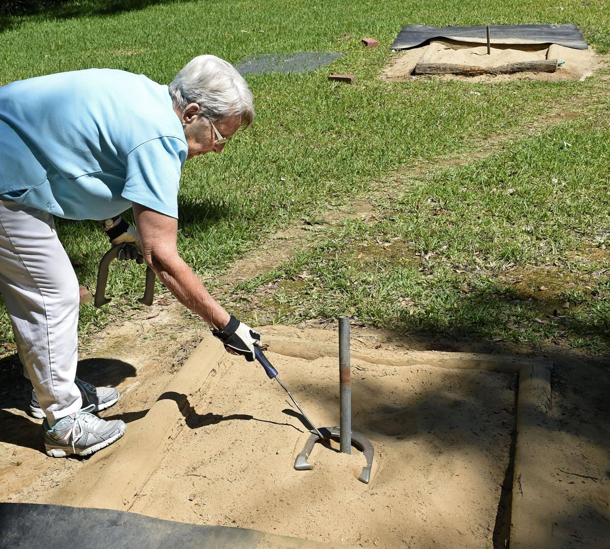 Still throwing ringers 85 year old competes nationally in for Gardening tools for 3 year old