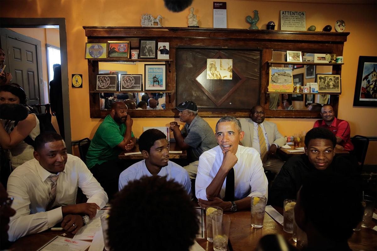 Obama visit President Barak Obama visits New Orleans for 10th A