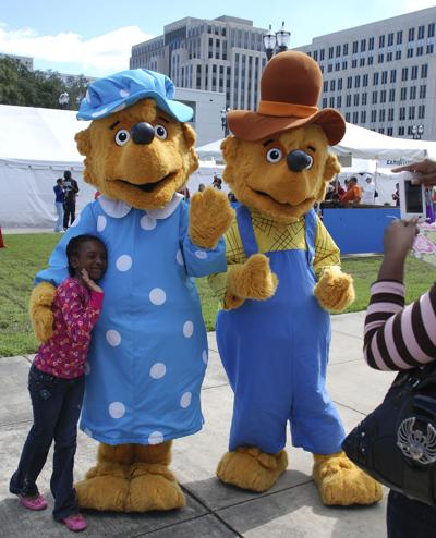 la book fest costumed characters