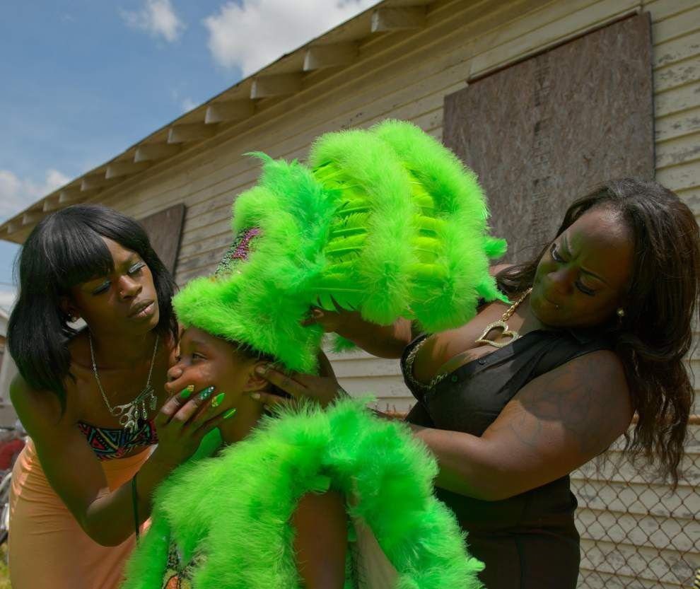 Photos: Mardi Gras Indians feathery farewell _lowres