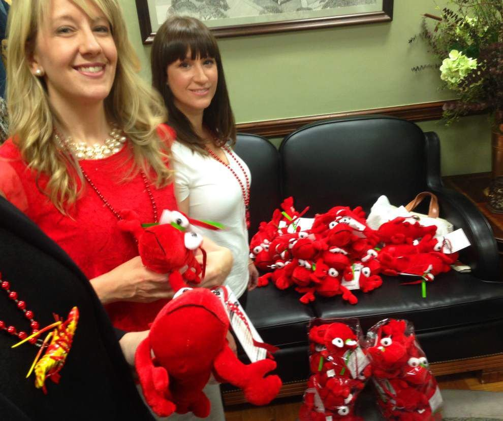 Why Common Core opponents passed out red crawfish dolls to Louisiana lawmakers today _lowres