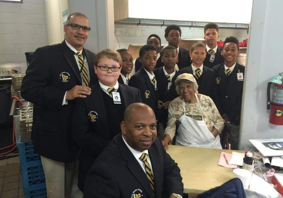 Belle Chasse Academy students practice etiquette skills at Dooky Chase _lowres