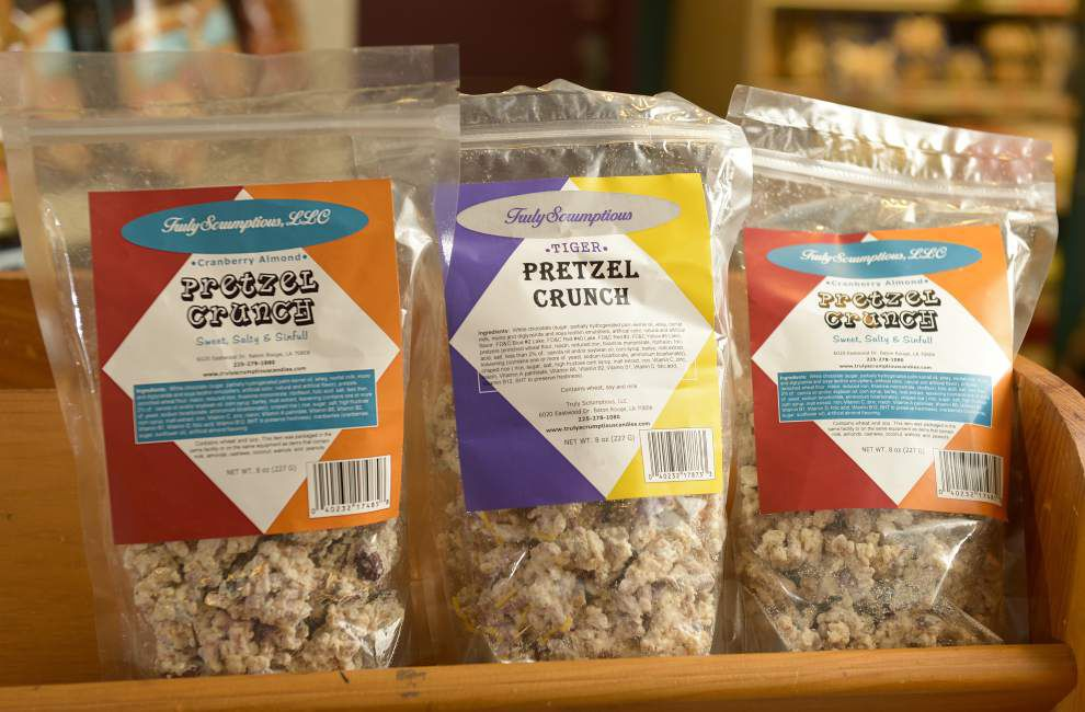 Sisters work to expand market for Pretzel Crunch _lowres