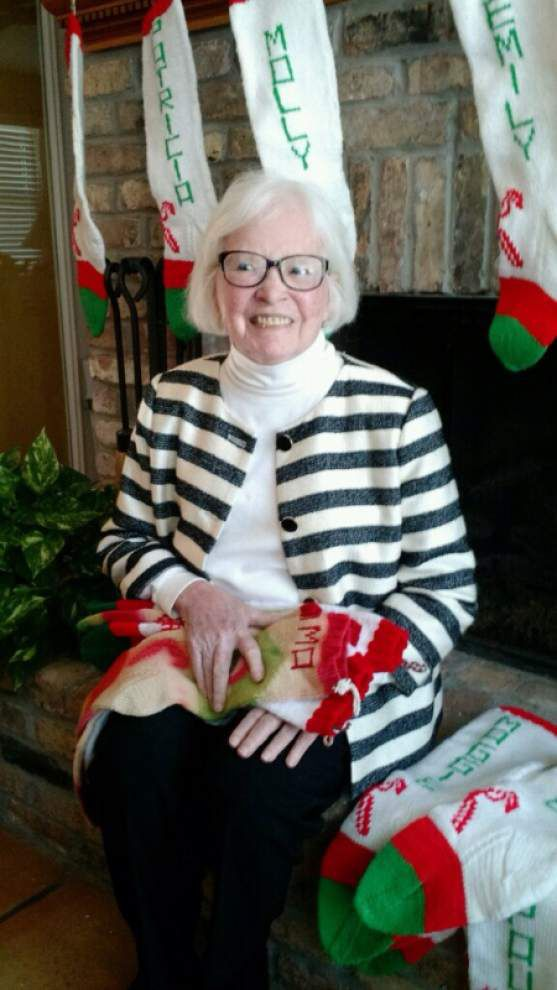 Throw me somethin': Hand-knit stockings are a family holiday tradition that has legs _lowres