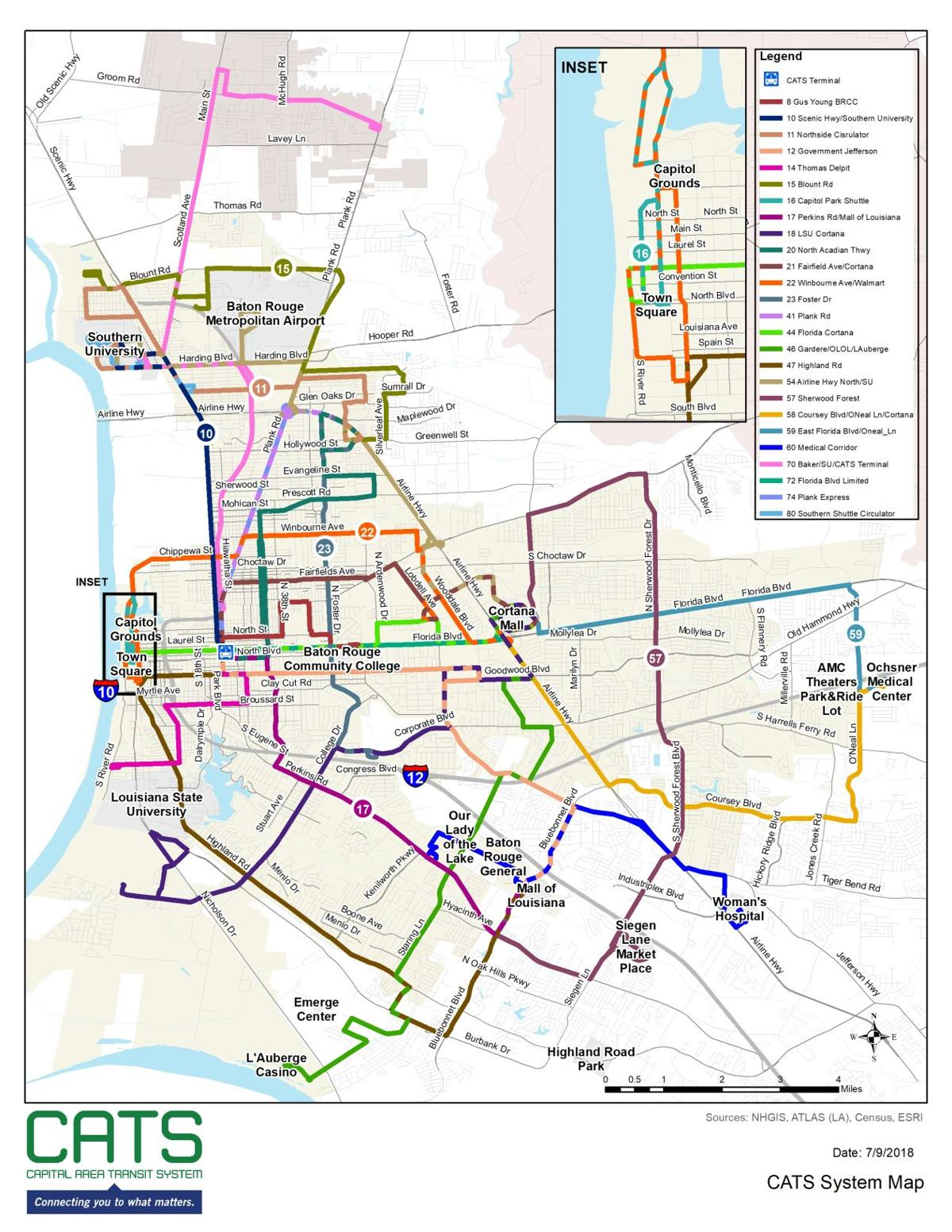 Proposed new bus routes