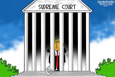 Walt Handelsman: Supreme Court Blocks Trump on Dreamers