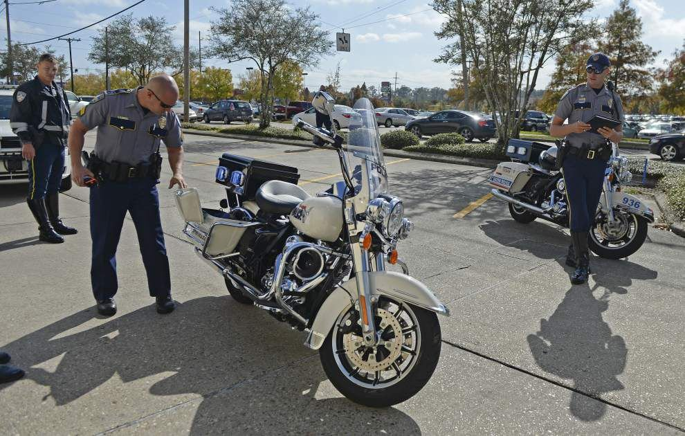 Baton Rouge Police motorcycle officer suffers minor injuries Wednesday when hit by SUV _lowres