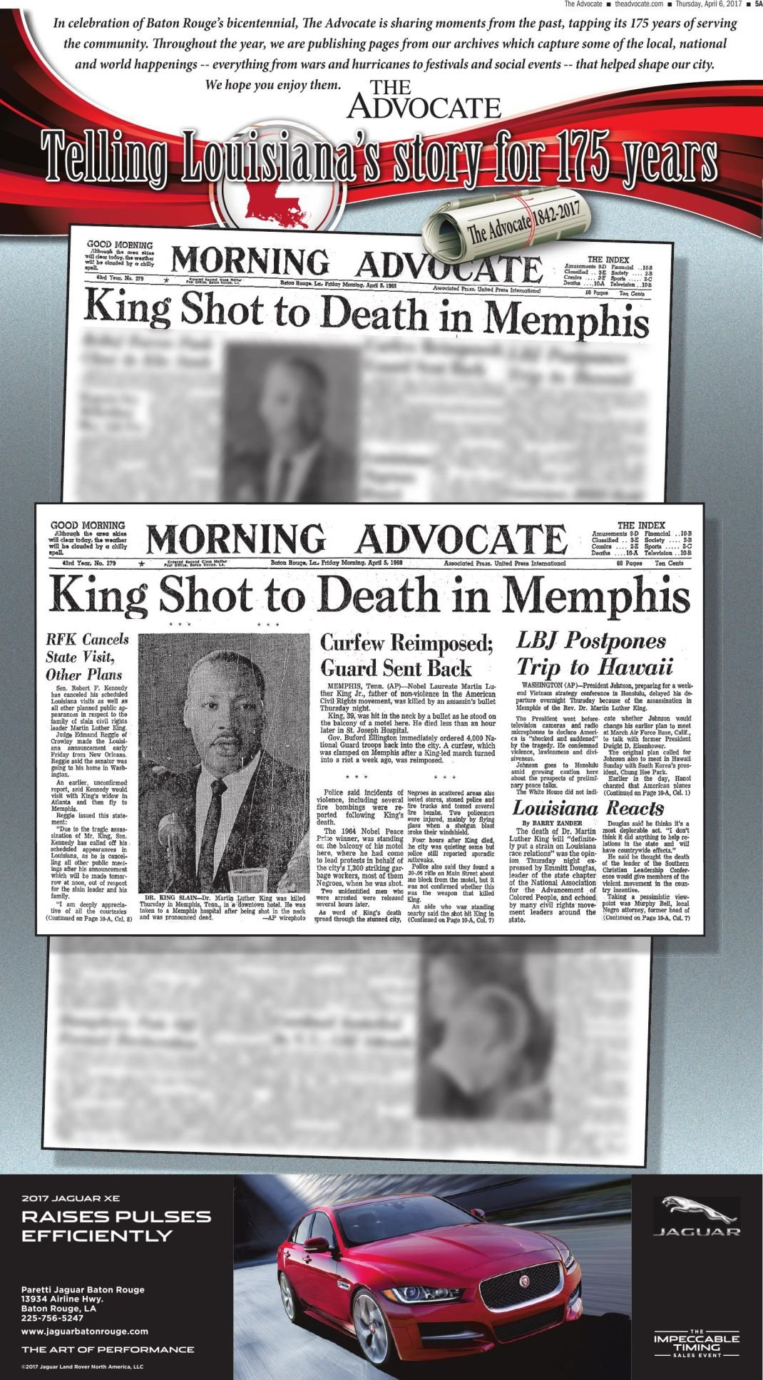 King Shot to Death in Memphis