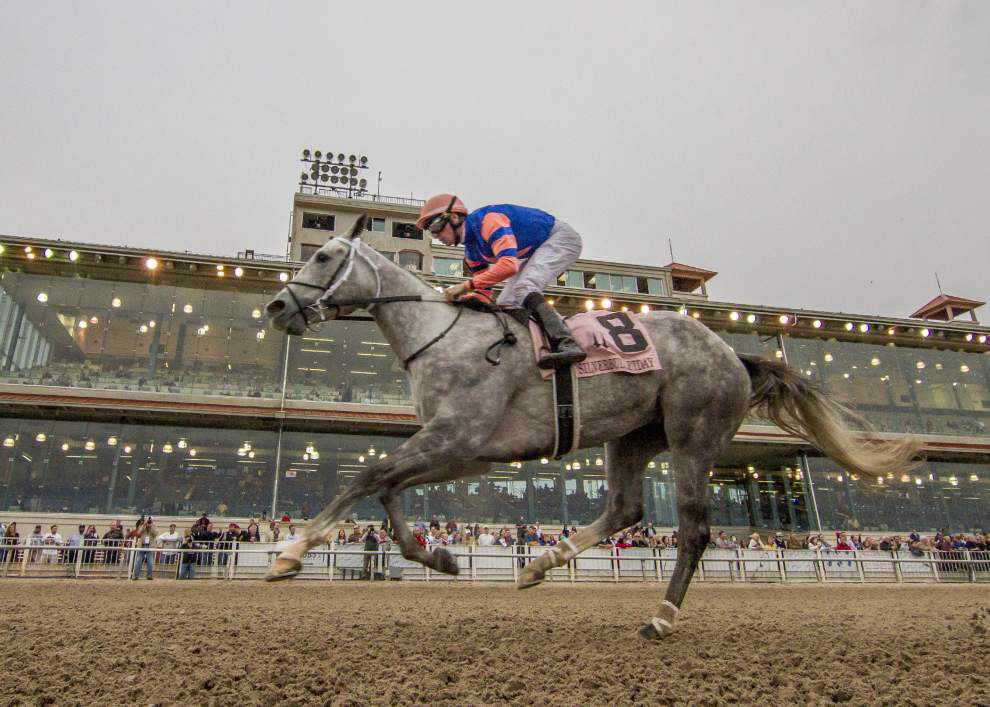 Stageplay doesn't disappoint, wins Silverbulletday Stakes at the Fair Grounds _lowres