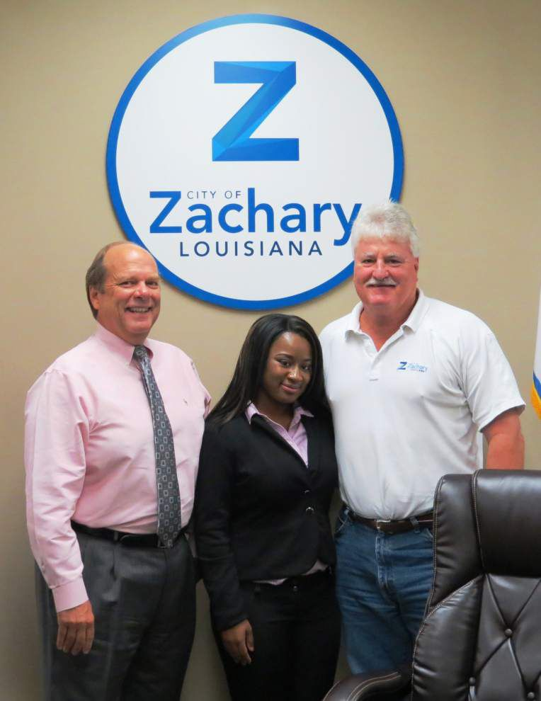 Zachary teen gets 'on the job' training _lowres
