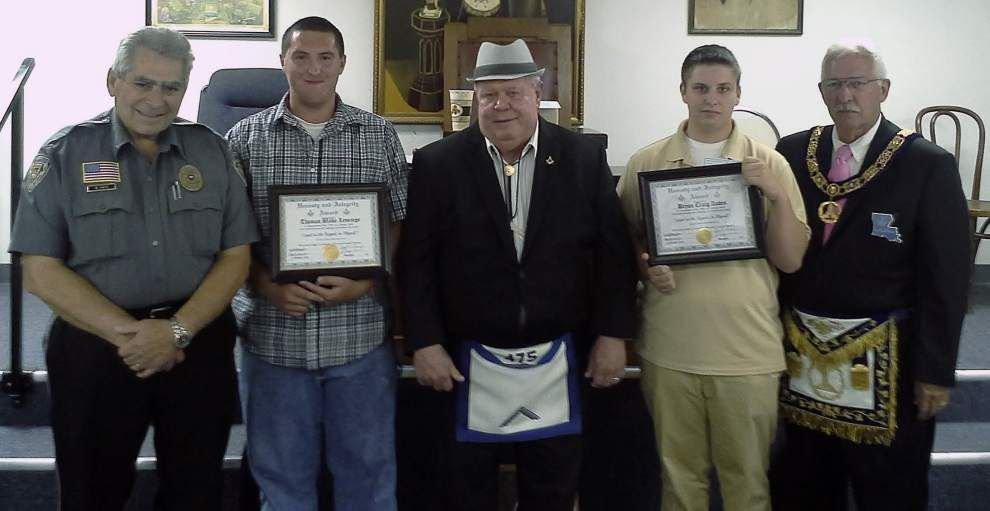 Area students receive Masonic award _lowres
