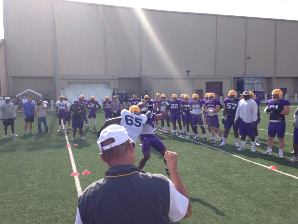Live updates from LSU's Thursday morning practice _lowres