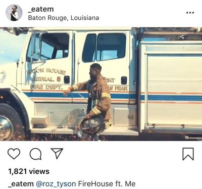 Local rapper posts video at Baton Rouge fire station, using
