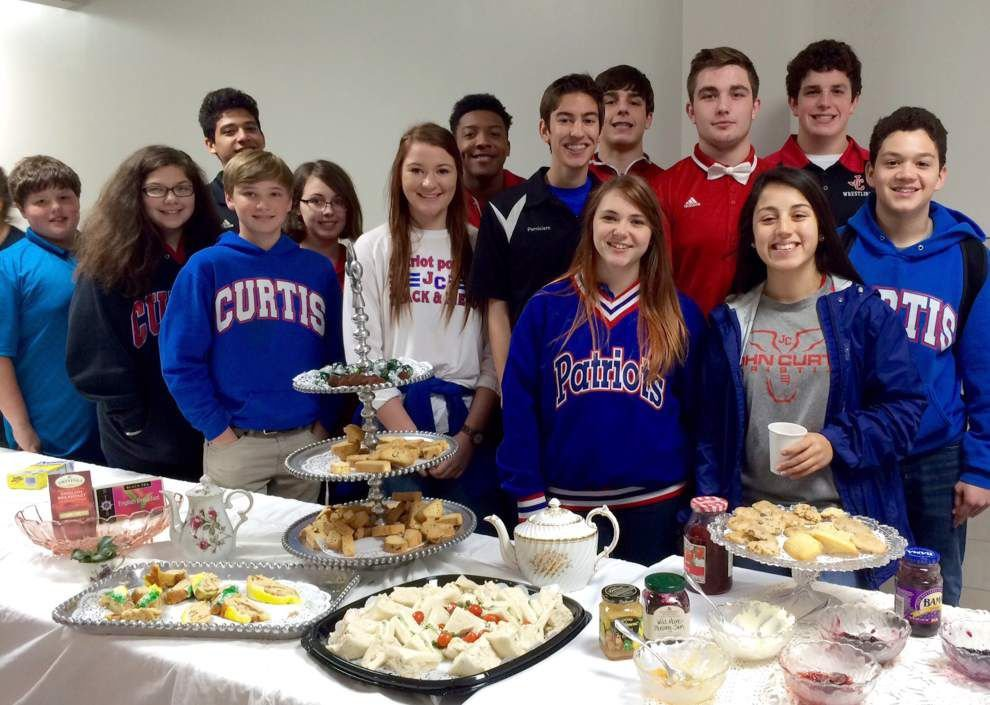John Curtis Christian School geography students savor high tea _lowres