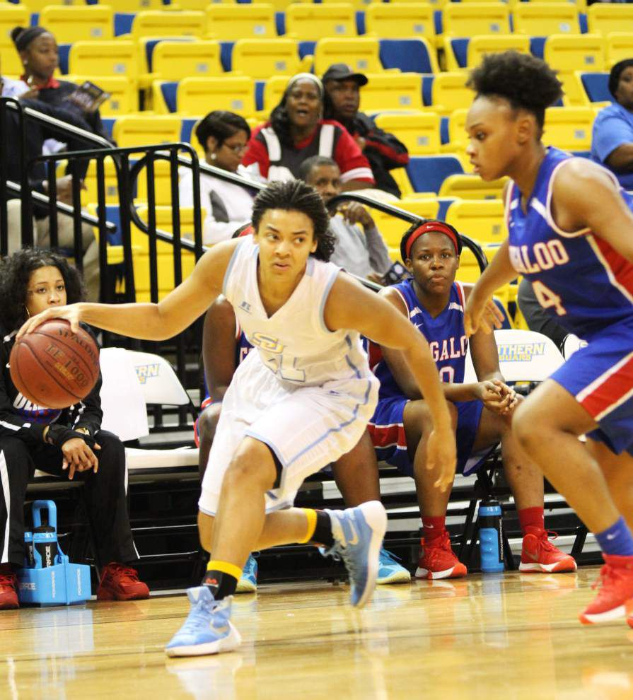Southern women end four-game losing streak with 81-48 win against Tougaloo _lowres