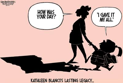 Walt Handelsman: Kathleen Blanco's Lasting Legacy