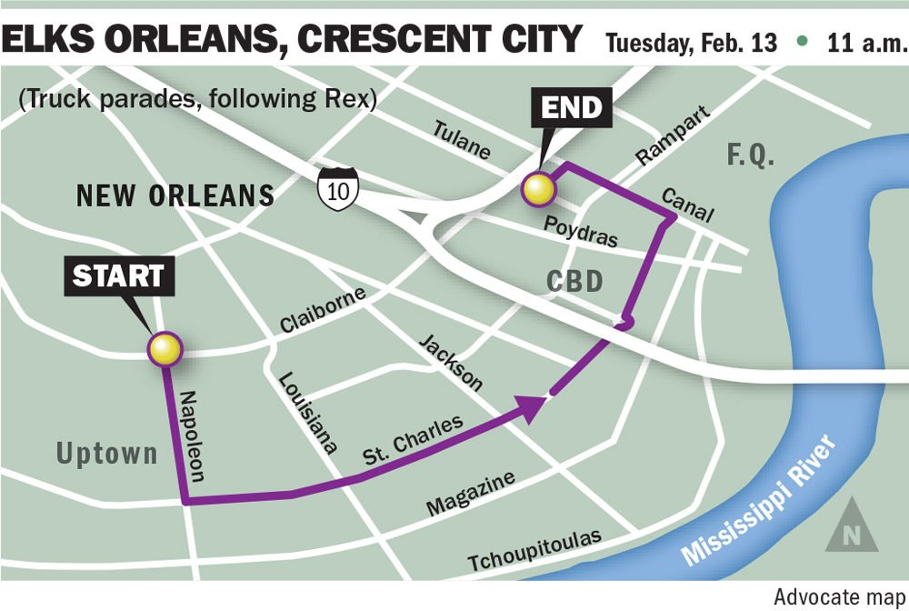 Louisiana New Orleans Map.Mardi Gras 2018 In New Orleans See Routes Maps For Fat Tuesday