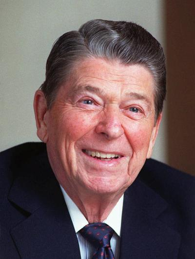 Former President Ronald Reagan... 02/04/90