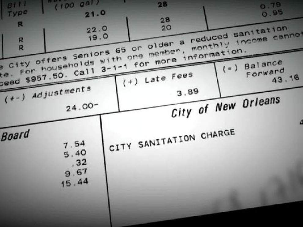 WWL-TV: New Orleans keeps double-billing residents for sanitation services in what one woman calls 'a scam' _lowres