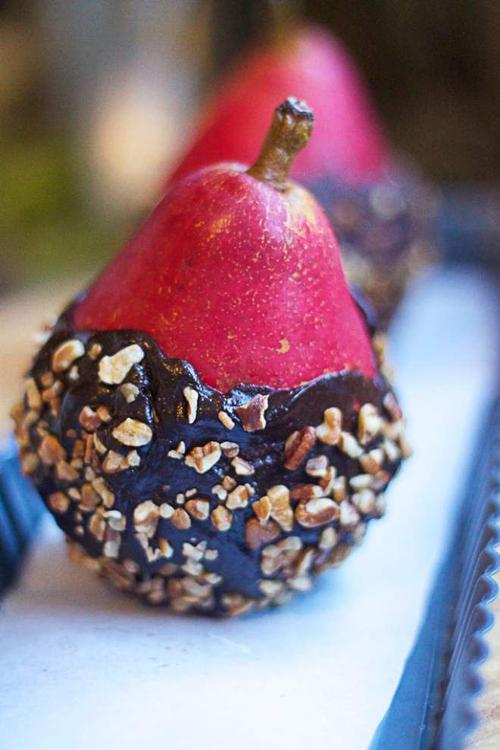 Candy Pears (Dipped in Dark Chocolate and Chopped Nuts) _lowres