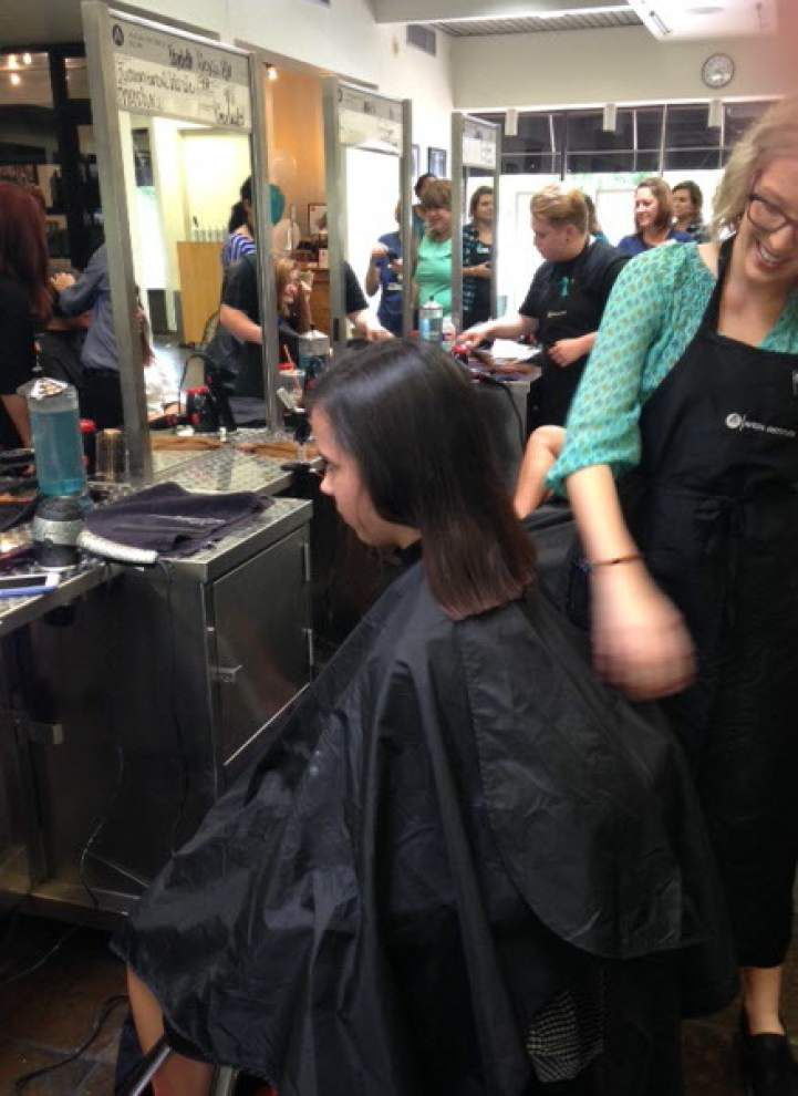 Episcopal High students share hair to help _lowres