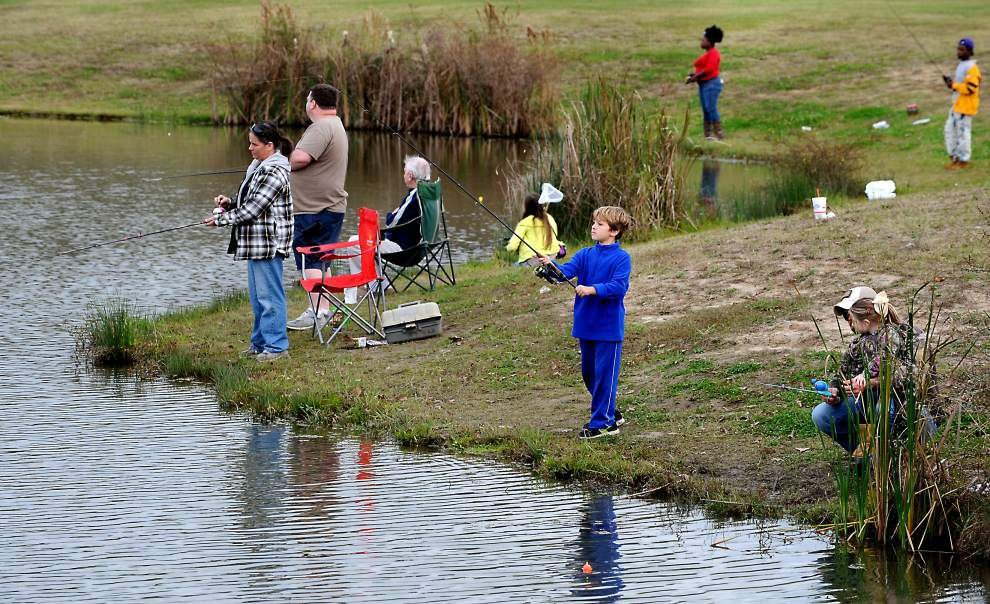 BREC stocks ponds with rainbow trout to delight of local anglers _lowres