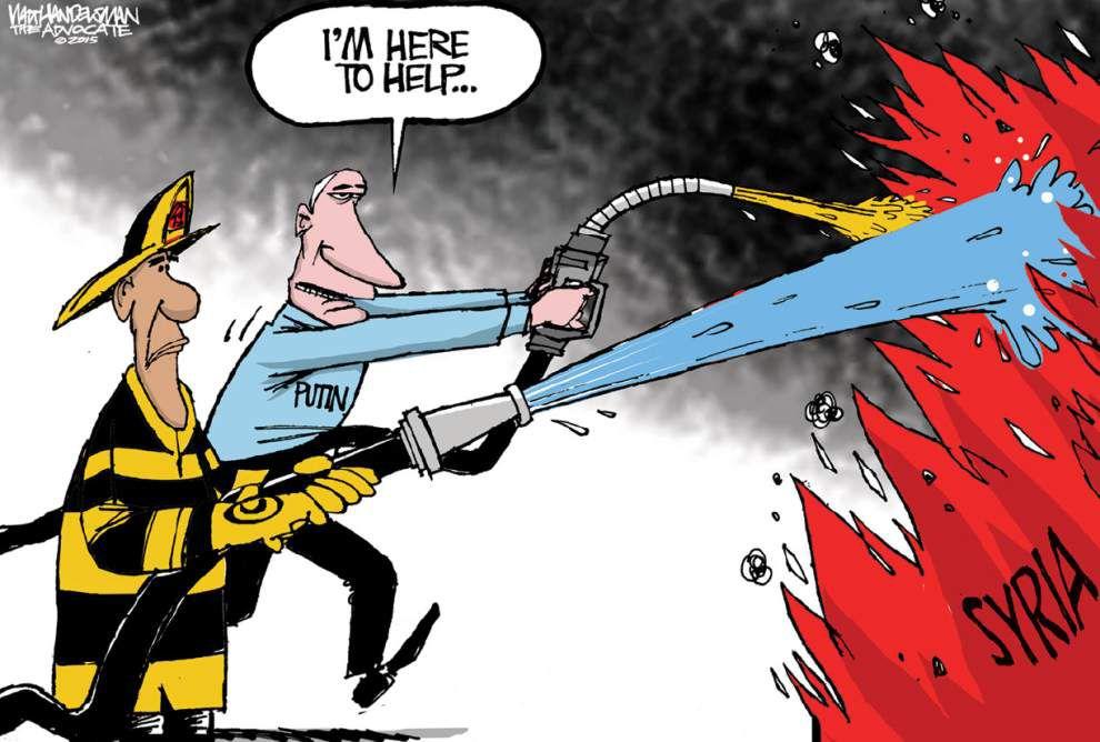 Walt Handelsman: Putin to the rescue?? _lowres