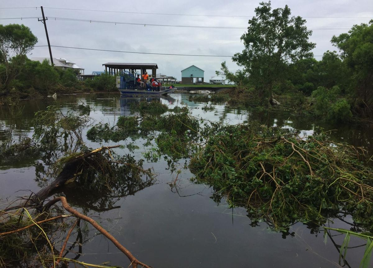 JBE tours damage in Plaquemines Parish