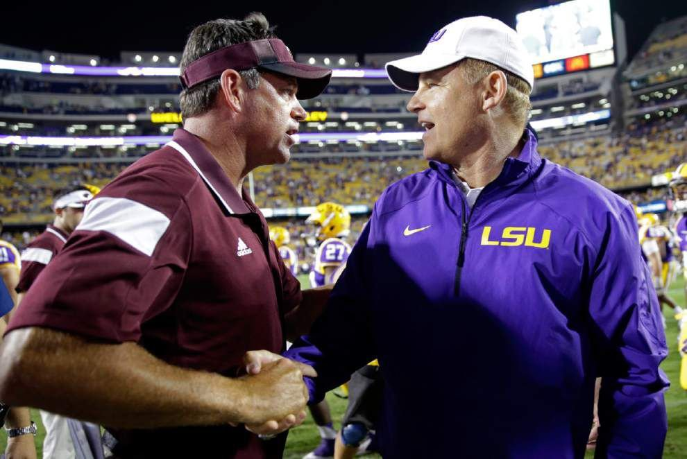 LSU coach Les Miles expects great atmosphere in Tiger Stadium for Mississippi State game _lowres