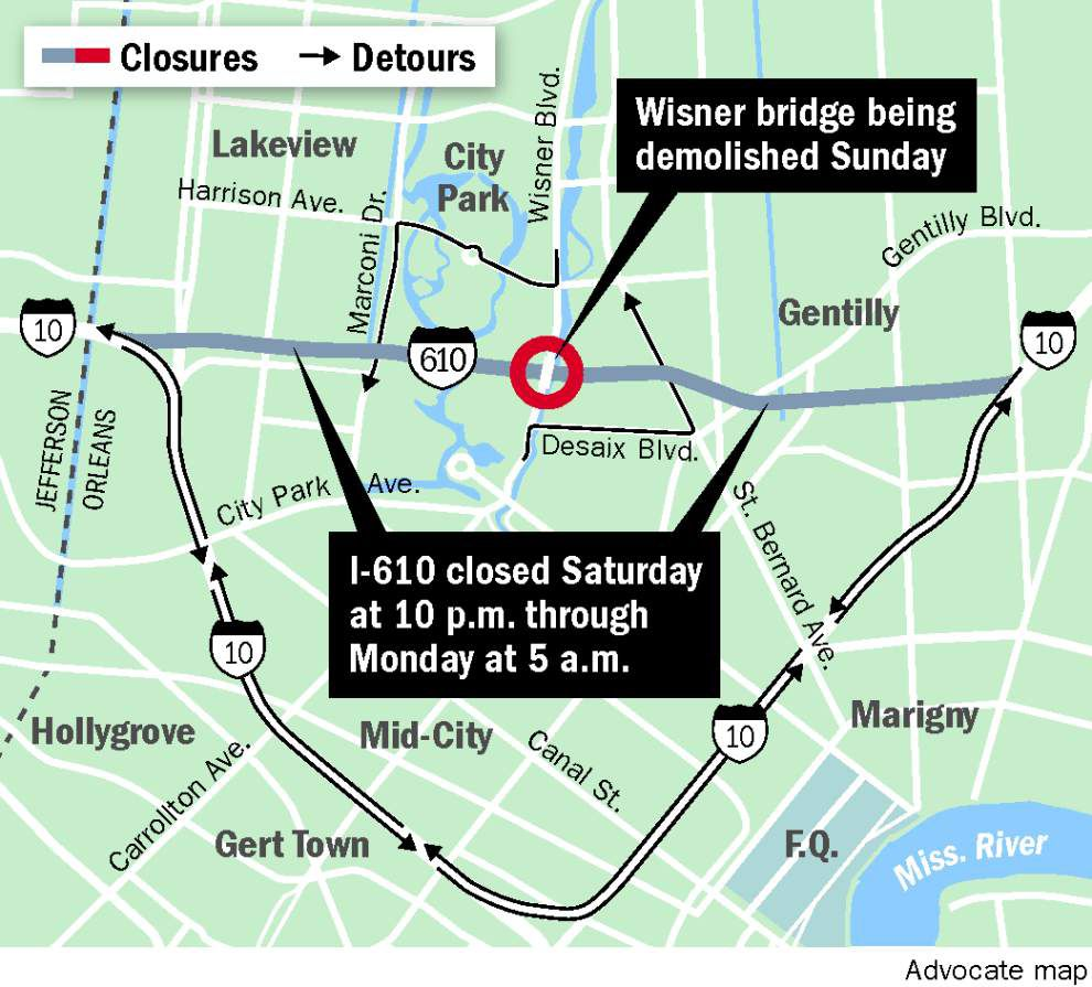I-610 to be closed from Saturday night to Monday morning _lowres