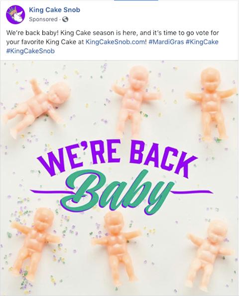 King cake baby post