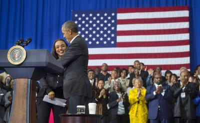 McKinley Student Welcomes Obama