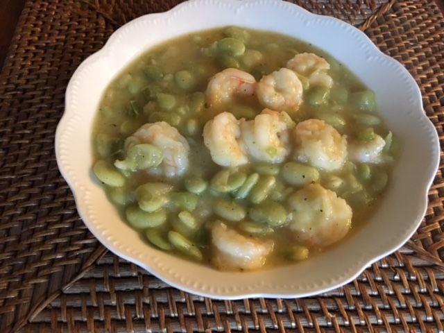 Lima beans with shrimp better photo