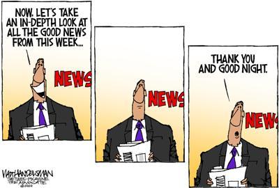 Walt Handelsman: Good news Recap.