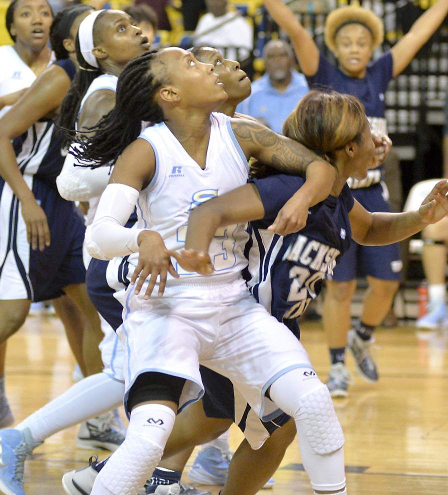 Southern women go wire to wire, top Jackson State 82-60 _lowres