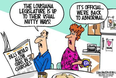 Walt Handelsman: Louisiana Legislature back to usual antics...