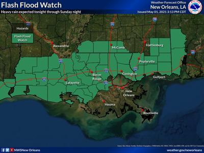 Flash Flood watch for SE Louisiana