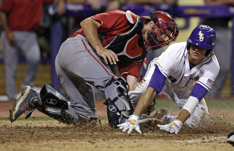 Triple play: LSU's Chris Sciambra shines, but could scrappy UL-Lafayette force a Game 3? _lowres