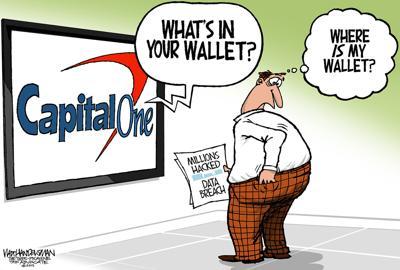 Walt Handelsman: Capital One data breach raises new question...