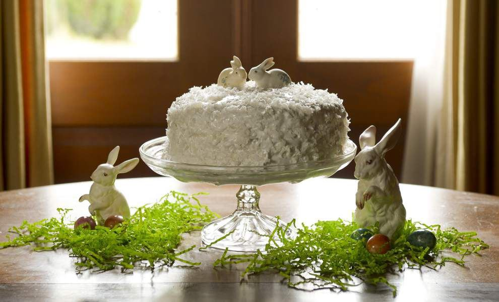 Cake With Lemon Filling and Fluffy White Coconut Icing _lowres