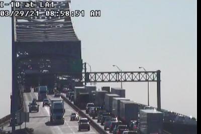 Bridge traffic backed up