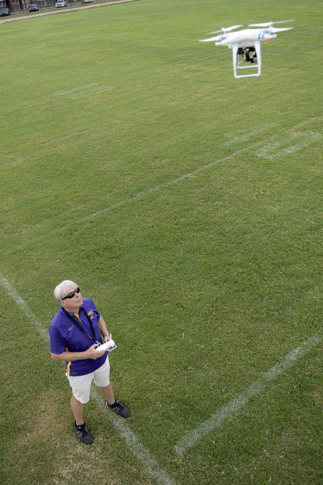 LSU's band taking drones to the skies for guidance _lowres