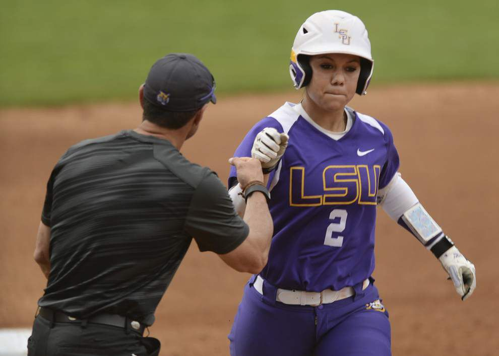 LSU softball player Sahvanna Jaquish just keeps adding to her record-breaking season _lowres