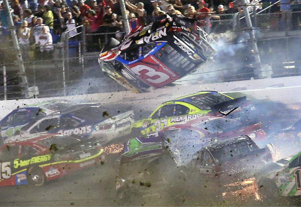 Terrifying crash at Daytona NASCAR race tears through fencing, scatters debris into crowd _lowres