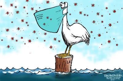 Walt Handelsman: Pelican Precaution