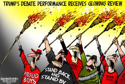 Walt Handelsman: Trump Debate Performance