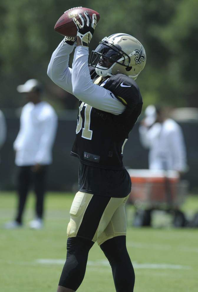 Jairus Byrd makes an impact in his first contact practice with Saints on Tuesday _lowres