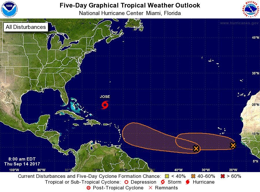 Jose Downgraded to Tropical Storm, Flash Flood Warnings Remain
